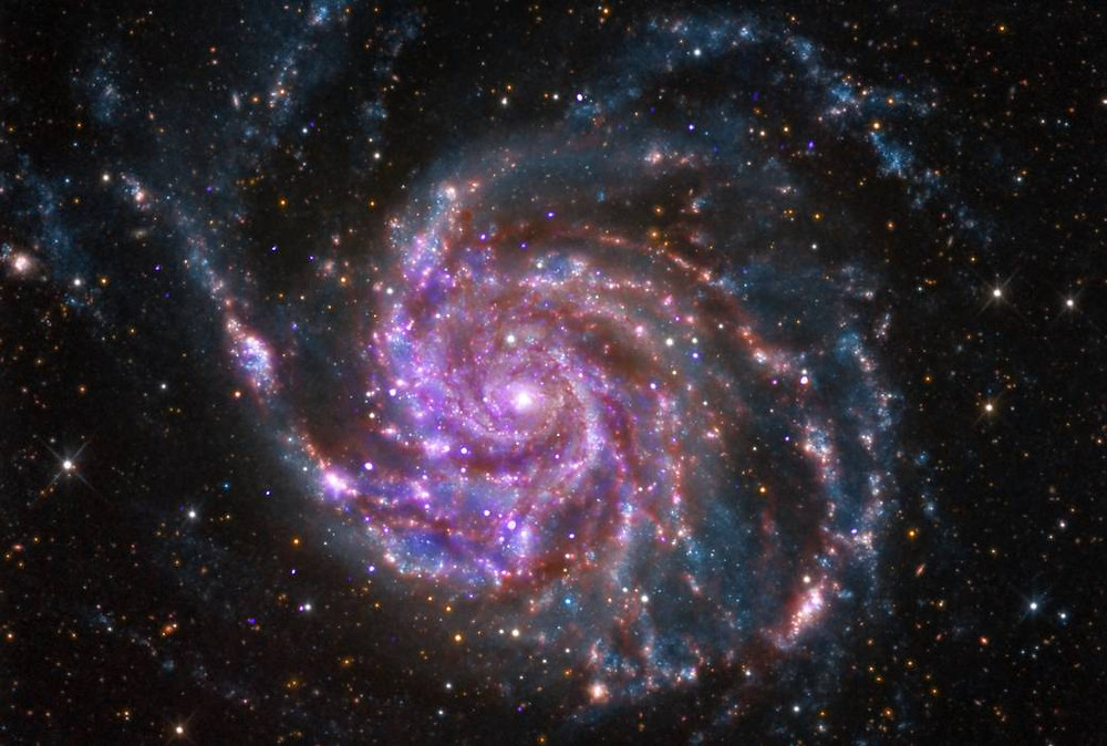 Spiral Galaxy M101. Image credit: NASA