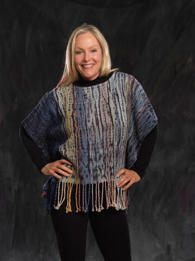 Twisted Fringe handwoven shibori tunic