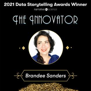 """2021 Data Storyteller Award Winner """"The Innovator"""""""