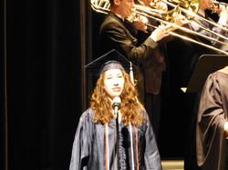 Singing at Penn State graduation