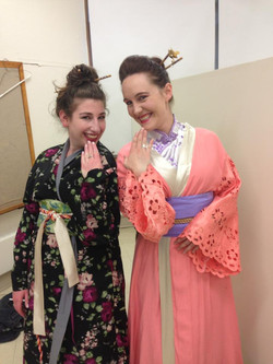 Backstage at Madama Butterfly