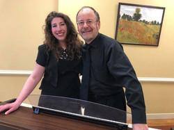My wonderful accompanist and I