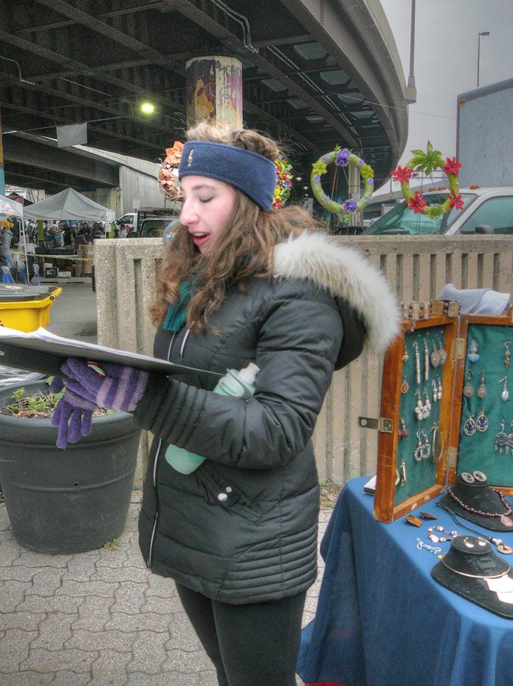 Singing at the Farmer's Market!