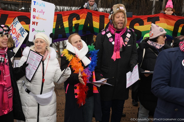 With our sister group Gays Against Guns