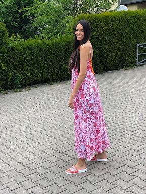 PLACE DU SOLEIL - langes Kleid mit Rückenausschnitt 29S21422LONG0521