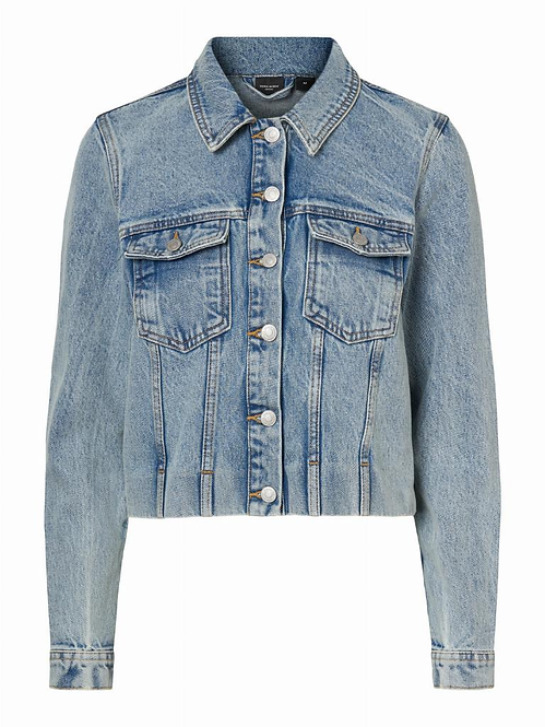 VMMIKKY LS CROPPED DENIM JACKE