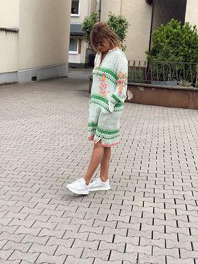 PLACE DU SOLEIL - Kleid mit Stickereien 29S21108GREENWHITE0521