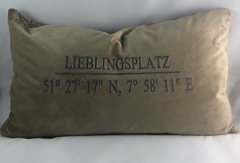 NEHEIM - Kissen Lieblingsplatz 21HÜLLE30X50