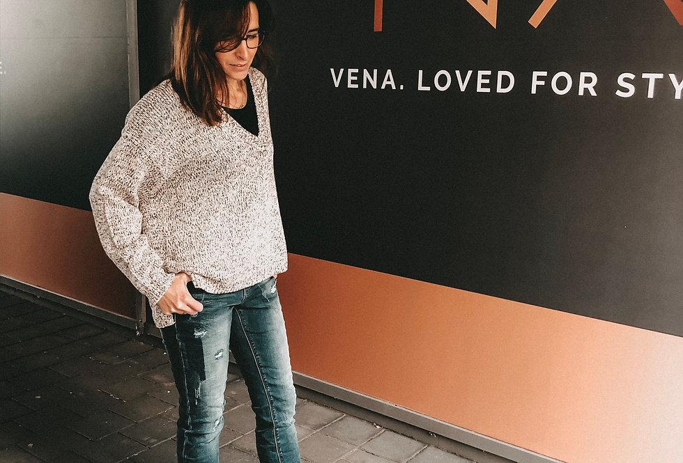 KAFFE - Pullover mit V-Ausschnitt 21105050511220