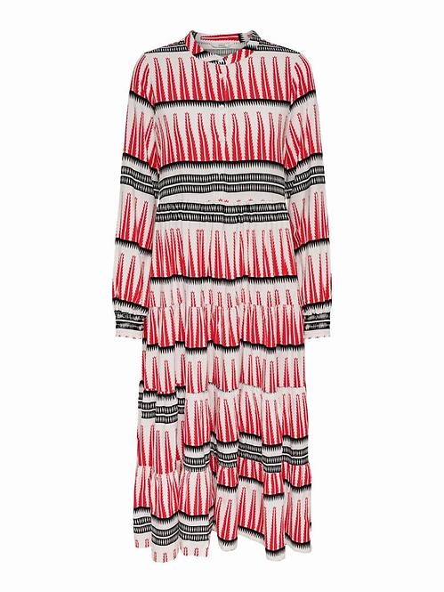 ONLLUCCA L/S LONG DRESS WVN