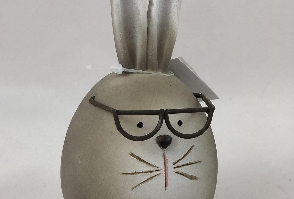 Hase mit Brille - (13,5 cm x 6cm x 6cm)