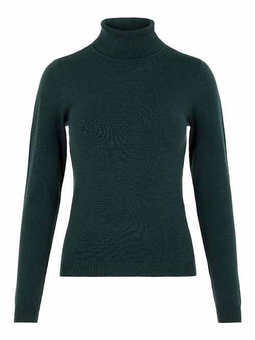 VMHAPPY BASIC LS ROLLNECK BLOU