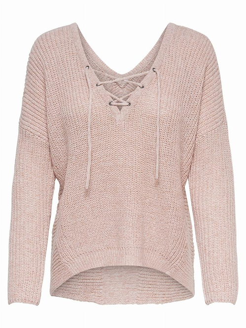 onlPEYTON L/S LACE UP PULLOVER
