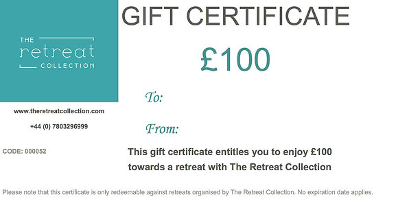 £100 Gift Certificate