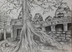 Cambodia in pencil by Dharmisha