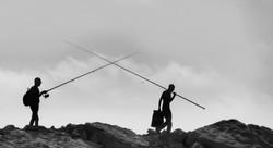 A fishermen's duel