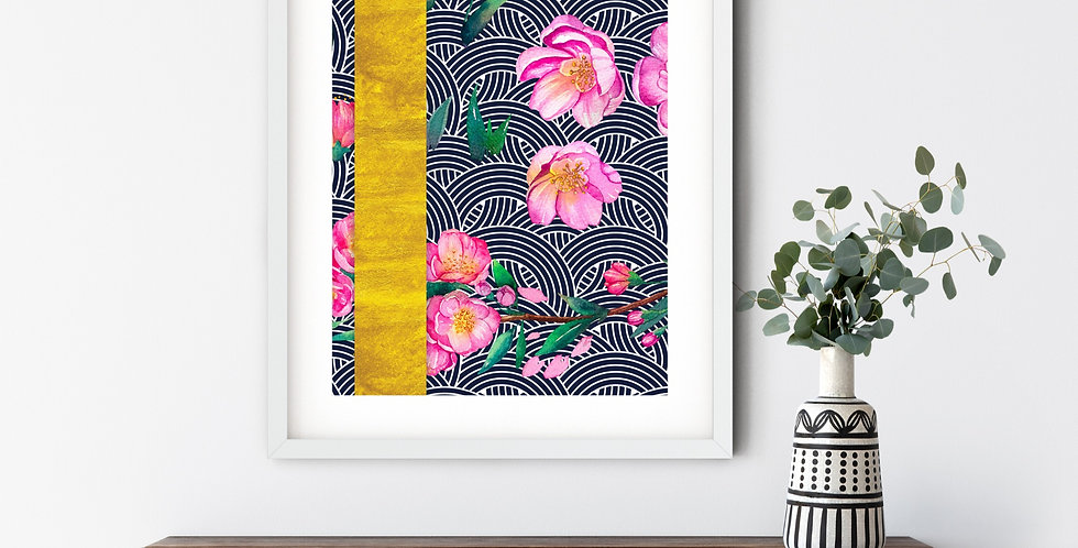 Funky Blossom painting