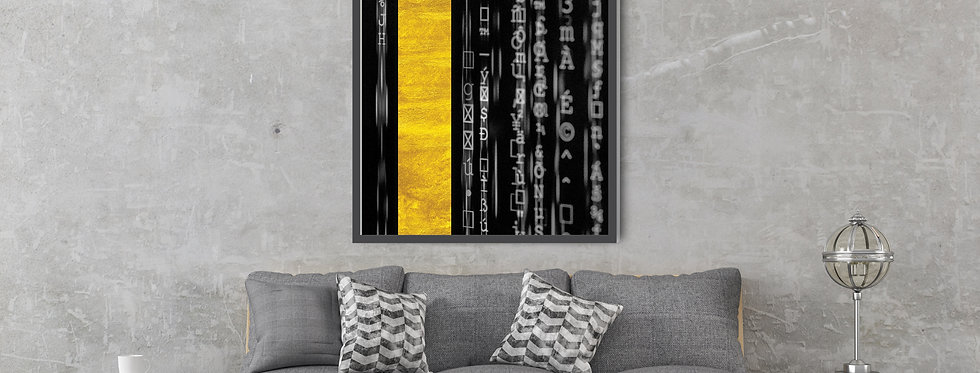 The Matrix (Black) painting