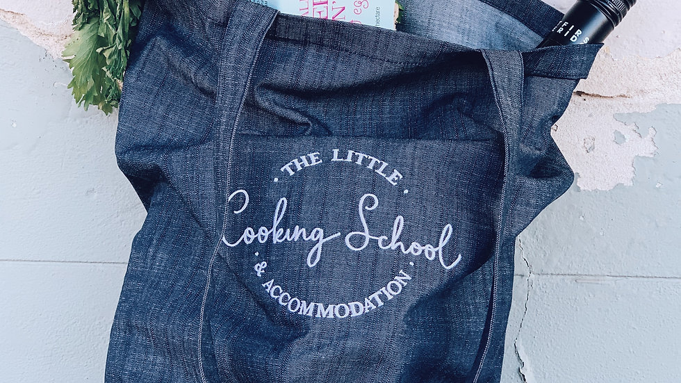 The little cooking school Denim Tote Bag