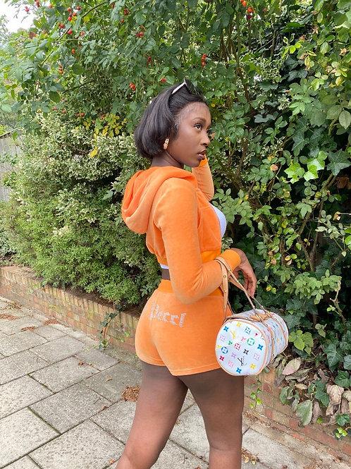 Tangerine Velour Set