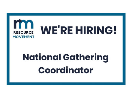 Summer contract: National Gathering Coordinator