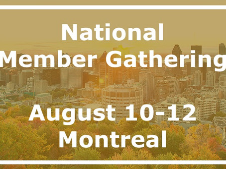 Summer Member Gathering: Join us in Montréal!