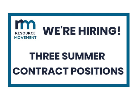 WE'RE HIRING: THREE SUMMER CONTRACT POSITIONS