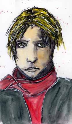 Boy in Red Scarf