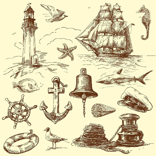 13935884-hand-drawn-nautical-collection.