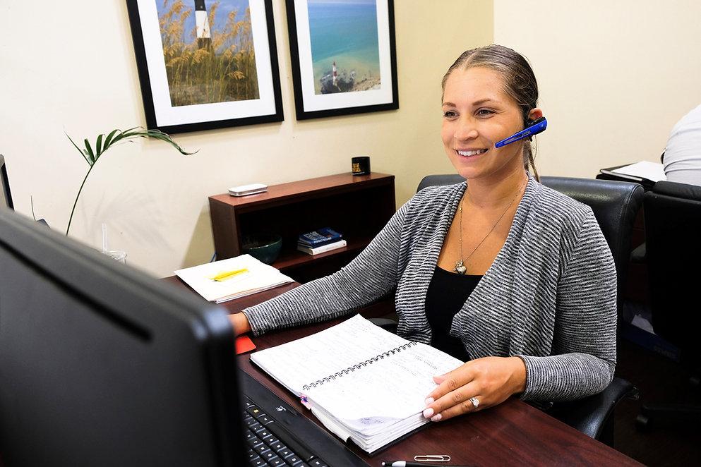 Customer Service Representative Working