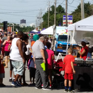 The SW 9th Open Street Event was busy