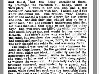 Last Woman Hanged was a little girl