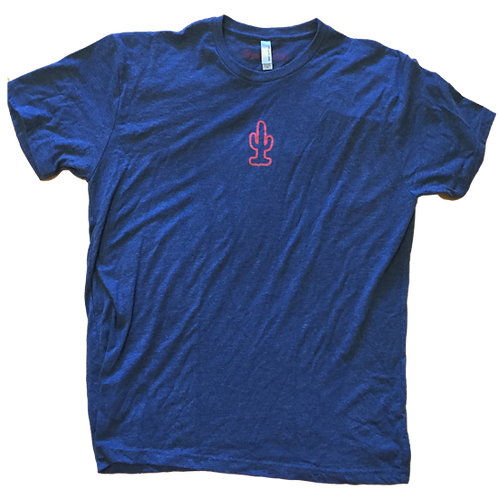Cactus Tee (Navy/Red)