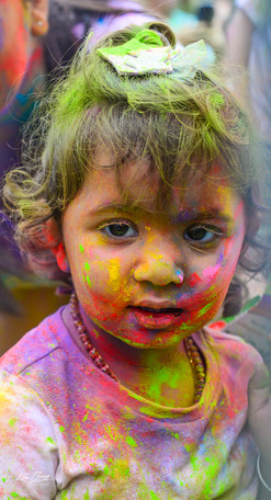 Holi Indian Girl