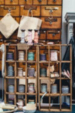 Loja de suprimentos de costura