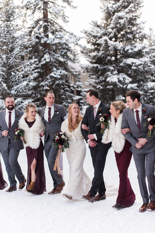 Wedding at the Breckenridge Nordic Center in Breckenridge, Colorado