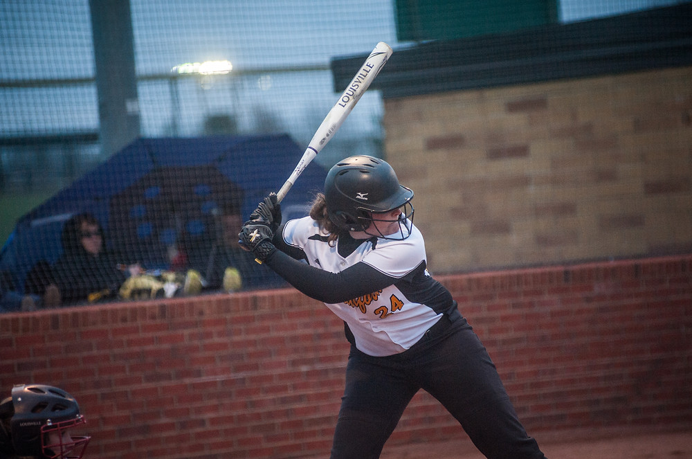 WCHS SOPHOMORE DELANEY ENLOW, pictured earlier this season, hit a home run in the Lady Jackets loss to Hatton on April 5. (Photo by Bill Caine)