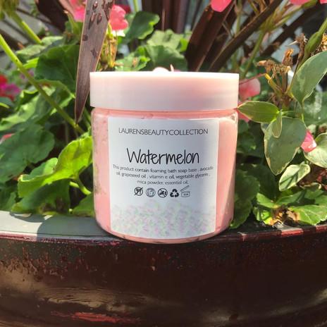 Watermelon whipped bath soap