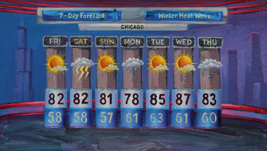 3/14-16/2012, Chicago: Warm Winter Oil on Canvas, 24 x 42