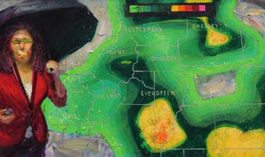 9/11/2013, Colorado: Biblical Rains Oil on Canvas, 24 x 40