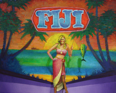 A romantic trip to Fiji! We'll fly you and your guest round trip coach from Los Angeles to native Fiji for a six night stay, a prize worth $6,148 dollars!  Oil on Canvas, 24x30