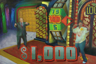 Thousands of dollars in cash just waiting to be won!  Oil on Canvas, 24x36
