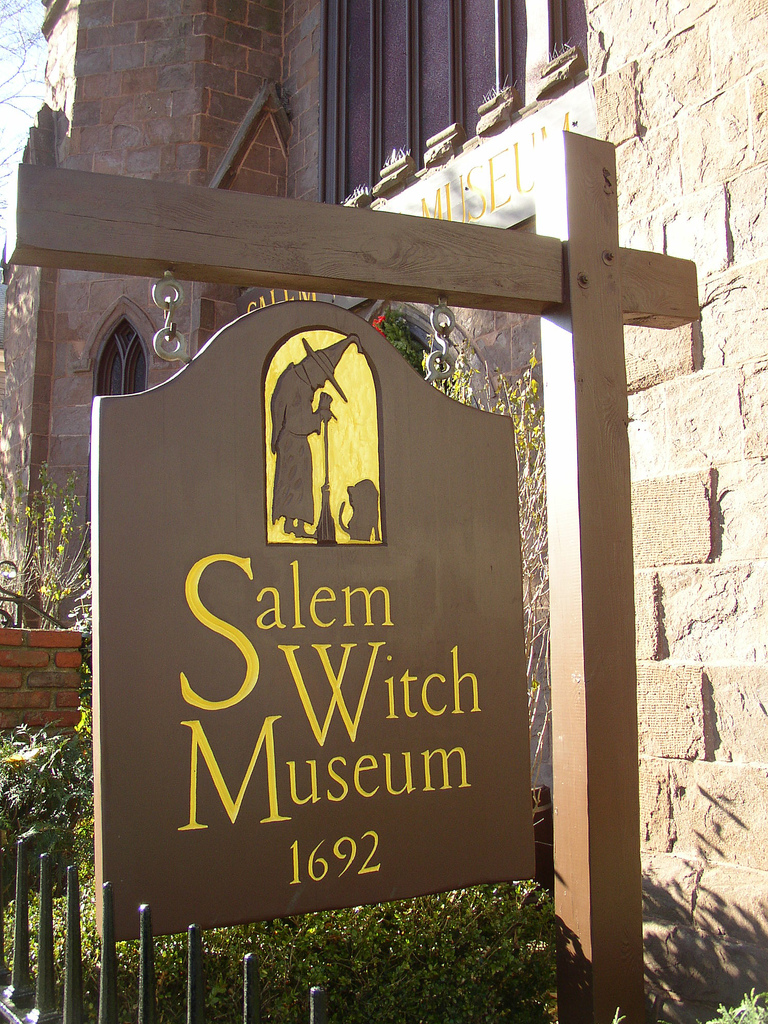 Salem Witch Museum Sign