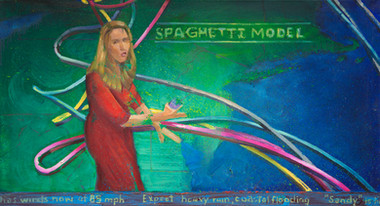 10/30/2012, New Jersey: Spaghetti Model Oil on Canvas, 24 x 44