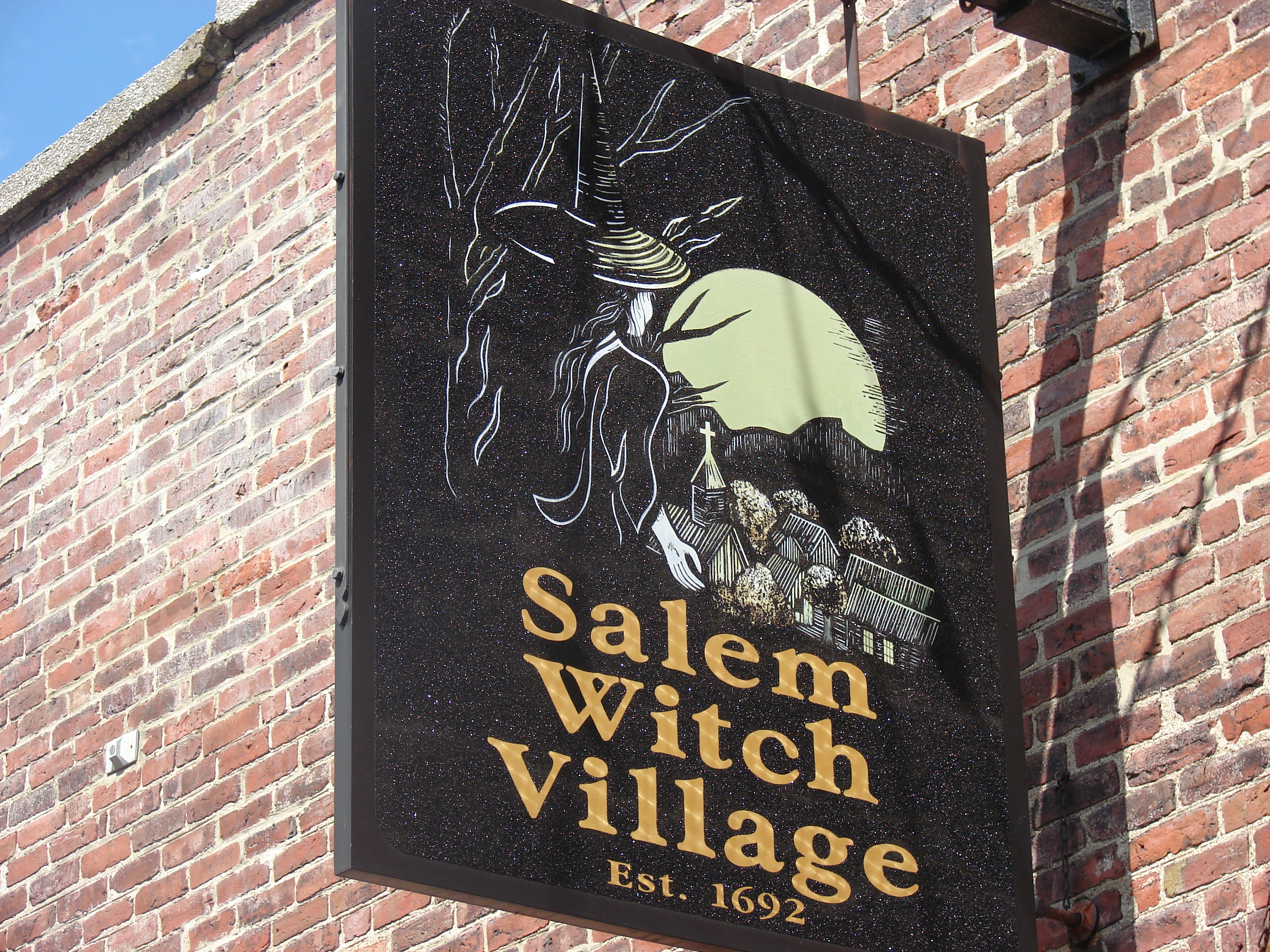Salem Witch Village Sign