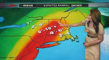 8/28/2011, Vermont: Hurricane Irene Oil on Canvas, 24 x 42