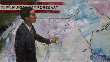 5/25/13, New Hampshire: BBQ Snow Oil on Canvas, 24 x 42