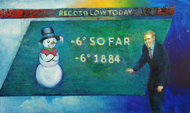 3/4/2014, Iowa: Ancient Record Oil on Canvas, 24 x 40