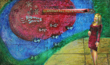 5/15/2014, Colorado: May Snow? Oil on Canvas, 24 x 40