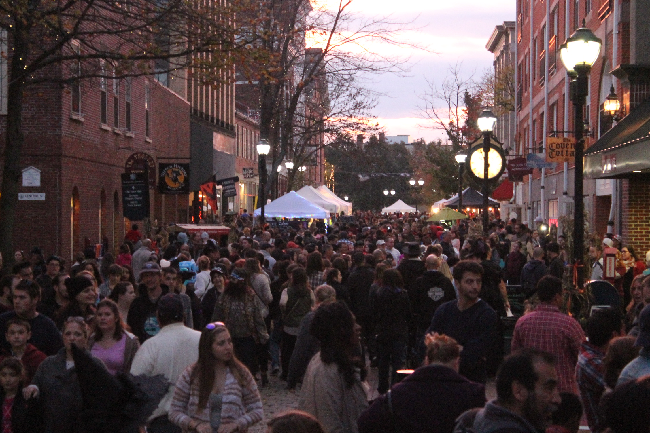 Crowds in Pedestrian Mall